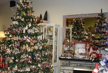 """Home Displays of """"OWC"""" / The possibilities are endless on how our devoted collectors display our mouth-blown fine glass ornaments. Thank you for sharing your photos."""