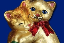 """Cats and Kittens / Old World Christmas Glass Ornaments has adorable Kitty Glass ornaments for you to purrr over"""" Remember to keep ornaments out of reach of curious paws."""
