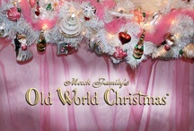 """Bridal & Wedding /  """"Old World Christmas"""" has glass ornaments for the bride, groom, wedding party and guests to celebrate their LOVE."""