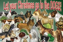 Dogs and Puppies / Old World Christmas celebrates your puppy love with glass ornaments.