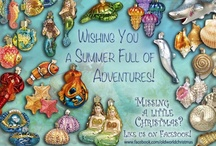 Beach and Ocean / The hot weather becomes cool with thoughts of under the sea adventures with Old World Christmas Glass Ornaments.