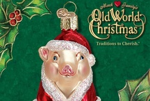 Animals / Create a zoo or safari out of your Christmas tree with Old World Christmas glass ornaments shaped in your favorite animals.