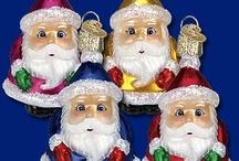 Santa Santa Santa / Old World Christmas has Glass Ornaments for the naughty and nice