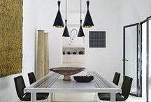 Modern Lighting / Modern lighting fixtures that enhance a space with their sleek design and monotone colors.