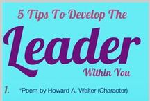 Liderazgo / Infografías sobre liderazgo, motivación y la vida de un líder