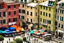"""Cinque Terre, Italy / Join me on my Italy Retreats For Women to Live La Dolce Vita, as we explore the 5 fishing villages nestled in the mountains and along the Ligurian Sea on the Italian Riviera.  Land of pesto, anchovies, terraced vineyards and lazy piazzas to write about and paint all day long. """"What is the fatal charm of Italy? What do we find there that can be found nowhere else? I believe it is a certain permission to be human, which other places, other countries, lost long ago."""" --Erica Jong """"My Italy"""""""