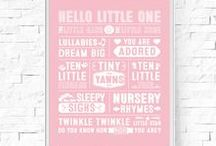 Nursery & New Baby Digital Prints / Instantly downloadable digital prints for nursery home decor.