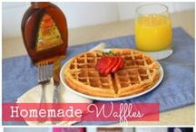 Breakfast / Breakfast sandwiches, waffles, pancakes, coffee cake, eggs and more