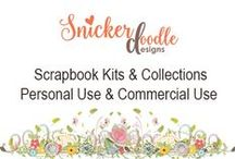 SD @ Snickerdoodle Designs / Scrapbook Kits and Collections including Personal Use and Commercial Use products.