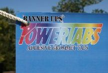 PowerTabs / Adhesive grommet tabs available in regular and mini sizes for outdoor or indoor use!