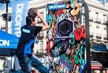 #DecathlonTheHoop / Imágenes del evento realizado en la Puerta del Sol de Madrid sobre la canasta The Hoop de Kipsta.