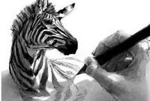 Zebra Art / Zebra is the mascot for Ehlers Danlos syndrome and the theme through out my Pinterest boards. On this board you can find art with zebra pictures or zebra print.