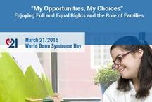 World Down Syndrome Day #WDSD / #WDSD Ways to celebrate, educate, support, inspire and share on the international day for those who have Trisomy 21.