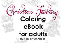Fantasy on Paper / Zendoodles, zentangles, clip arts, illustrations, downloads. Coloring pages for adults and kids, hand drawn designs. Some are created with a Wacom graphic tablet, other the old fashioned way, with a pen and micro pigment ink pens. Enjoy and share if you like it! http://fantasy-on-paper.com/  Visit our Etsy Shop: https://www.etsy.com/shop/FantasyOnPaper