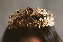 Gold Crown / Who doesn't love fairy take inspired fashion. #goldcrown