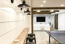 { Man Cave } / Man cave and basement ideas #mancave #basement