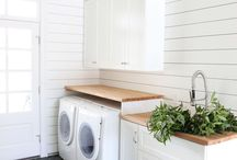 { Laundry & Mudroom Ideas } / Ideas for decorating a laundry room and mud room space for the family