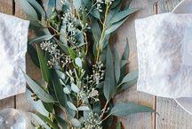 Summer seaside wedding party / Minimalist, natural & mediterranean, fresh green, candle & star light
