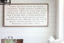 { Sign Love } / Signs, quotes and words of love on wood! #signs #quote #woodsign