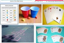 Math Games & Stations or Centers  / These are math games with and without technology and ideas for creating math stations or centers. / by Carol Camp