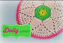 Crochet Round/Doily / Crochet Tutorial Round figures like coaster, doily and potholders
