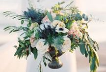 Wedding Flowers / Floral table centres and flower decorations