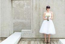 Short Wedding Dresses / Little, short white wedding dresses