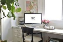 Home Office / Home office inspiration and blogging space