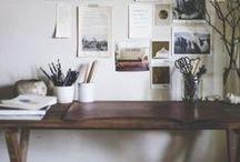 Workspace + Studio + Creative Space / Creative space / office / studio / workspace / art studio / artists spaces / desks / office decor