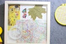 Quadro de memórias - Regiane Ivanski / Criando quadro de memórias / palavras-chave: faça você mesma, DIY, inspiração, decoração, memórias de viagem e memórias de família.