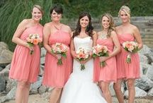 Coral / Peach Wedding Ideas / Ideas and inspiration for a coral/ peach wedding