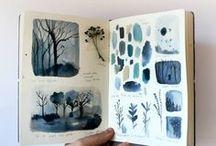 Sketchbooks + Pages / My favorite and inspiring sketchbooks, journals, doodles, art sketches, and illustrations.