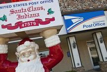 Santa Claus Post Office / The Santa Claus Post Office is the only post office in the world with the Santa Claus name! Stop by to receive the famous Santa Claus postmark during the Christmas season and see where thousands of letters are mailed to Santa each year.