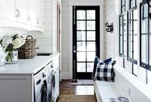 Laundry Room Inspiration / Lovely laundry rooms that inspire us to do... what else? Laundry!