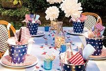 For a Festive Fourth of July / Party decor, recipes, cocktails and favors, perfect for July 4th!