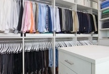 Closets / Closet:  A cabinet or enclosed recess for linens, household supplies, clothing, or...