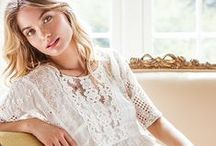 Romantic Free Spirit / Perfect looks for the ethereal boho babe - floaty silk chiffons, pretty lace, delicate embellishment, and feminine silhouettes!