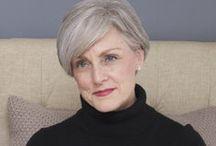 shades of grey / gray hair and hair style inspiration