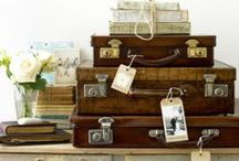 Vintage Suitcases / Old vintage suitcases and decorating ideas for suitcases.