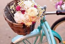 Bicycles / Old bicycles and ideas for decorating with bicycles. / by Darlene Schacht (TimeWarpWife.com)