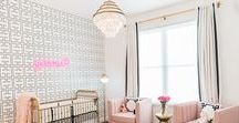"Glamorous Nursery Ideas / We're pinning design ideas sparked by all things glamorous! Project Nursery, Creative Juice, Stroller in the City, Rockabye Mommy and Spearmint Baby have teamed up to collaborate on a Glamorous Nursery Ideas pinboard. Join us Wednesday, October 8th at 6pm PDT / 9pm EDT for a party full of ""pinspiration."""