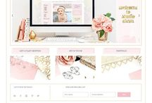 Pretty Nice Websites / Pretty, elegant, sophisticated, floral, feminine, cute, simple, water color, blog, website, blog design, web design, website design, blog templates, prophoto blog, prophoto site, custom prophoto design