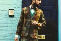 Men in plaid / Men well wrapped in wool & flannel. Fine wool, both tartan, plaid, tweed & plain. Kilts, feileadh beag, feileadh more. High fashion to Highlanders, Movie stars to street punks, Rock Stars to pipers. Lumberjacks & more