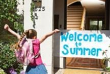 Kids {Schools Out} / School's out for the summer party and summer activity ideas. Plus summer bucket lists.   For more ideas http://blog.thecelebrationshoppe.com