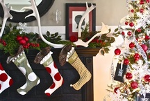 Holiday Party {Red, White, Black & Olive Green} / Celebrate this Christmas in a classic color palette with red, white, black and olive green ~ diy crafts, baking ideas, home decor and more.  For more ideas http://blog.thecelebrationshoppe.com
