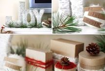 Holiday {Rustic Christmas} / Rustic Christmas decorations and inspiration.     For more ideas http://blog.thecelebrationshoppe.com