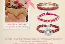 "PINK... My Breast Cancer Survivor Story & Fashion / Support Young Survival Coalition via RCR Partner ""Maison D'Emilie Jewelry Positively Pink Collection #BreastCancer #WeCan Survive - Now through Thursday, October 31, 2013, Chloe + Isabel will donate all net proceeds from the sale of items from our special ""Positively Pink"" Collection to the Young Survivor Coalition"