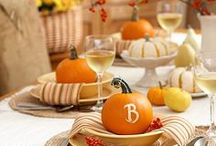 Holiday {Thanksgiving Table & Decor} / Thanksgiving table settings, Thanksgiving decorating ideas and Thanksgiving tips.  For more ideas http://blog.thecelebrationshoppe.com
