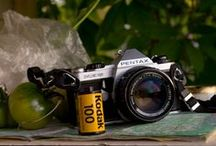 Beautiful Film Cameras / Nice collection of old film cameras. The photo cameras that were used to capture some of the most beautiful photographs of all time.