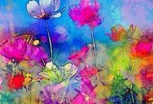 Art I Love Flowers / by Patricia Boyd